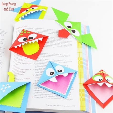 Paper Craft Bookmarks - origami bookmarks paper crafts