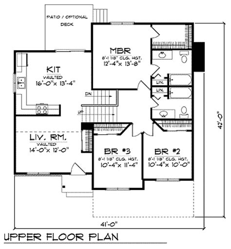 side split house plans canada house design plans