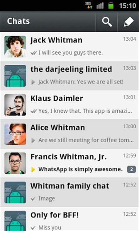 whatsapp messenger for android whatsapp messenger android indir