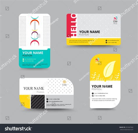 name tag card design business card template name card design stock vector