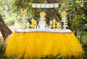 yellow baby shower decorations yellow and grey table babies