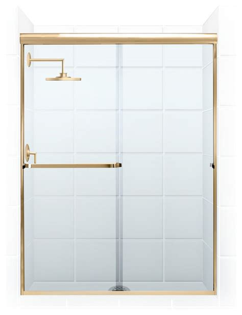 Gold Shower Doors Shower Doors Pararagon 3 16 Quot Frameless Gold Clear Glass By Coastal Modern Shower Doors