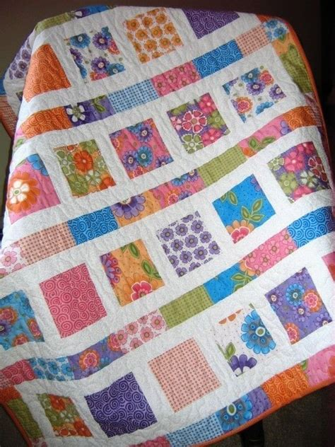 pdf baby quilt pattern and easy 2 charm square