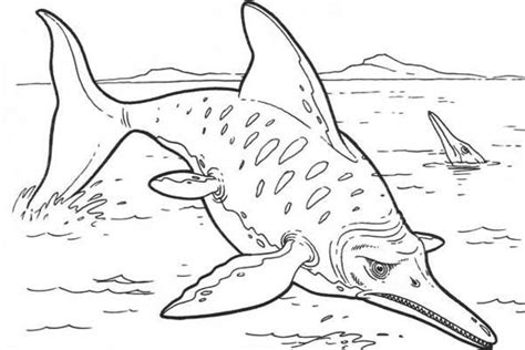 printable scary dinosaur coloring pages