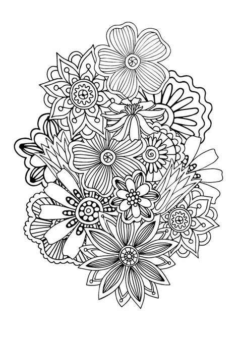zen coloring pages pdf zen antistress abstract pattern inspired by flowers 1 by