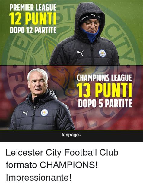 Premier League Memes - premier league 12 punti dopo 12 partite chions league