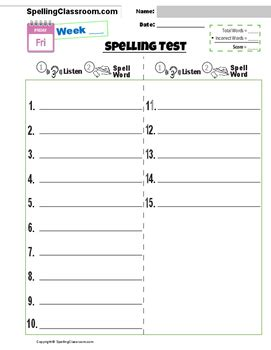 choice spelling test template spelling test template choice image free templates ideas