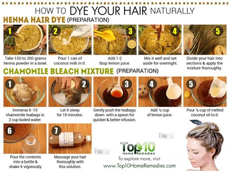 how to dye your hair naturally top 10 home remedies
