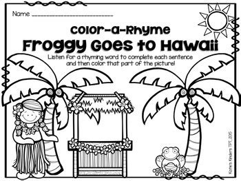 aloha freebie froggy goes to hawaii by katie s kinders