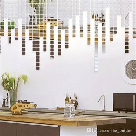 mirror decals home decor wall stickers home d 233 cor square crystal mirror wall decals