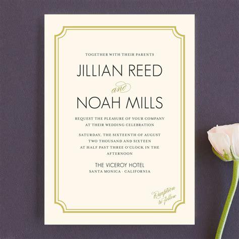 classical wedding invitations modern classic wedding invitations by clark minted