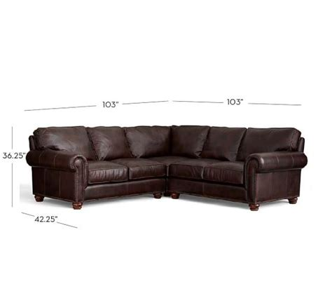 l shaped leather sectional webster leather 3 piece l shaped sectional with corner