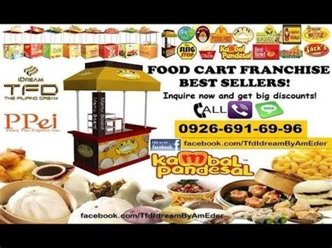 food cart franchise below 50k tfd idream product lines food cart franchises kambal pandesal franchise b leaf organic barley