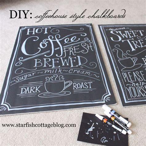 diy chalkboard foam board coffeehousechalkboards home decor diy and