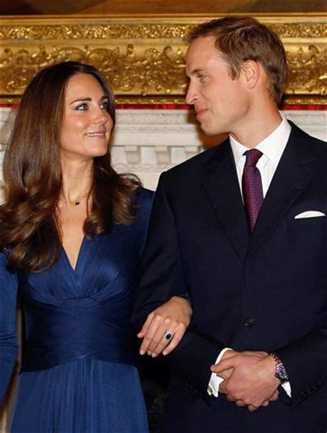 Kate middleton in blue issa dress on her engagement to prince william