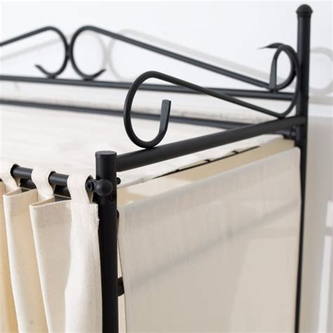 Metal Frame Wardrobe by Wardrobe Breezy Metal Frame Cotton Cover Beige Black 109 X