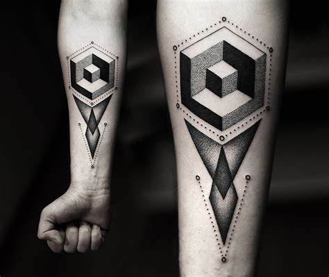 geometric shapes tattoo 22 mind blowing geometric tattoos