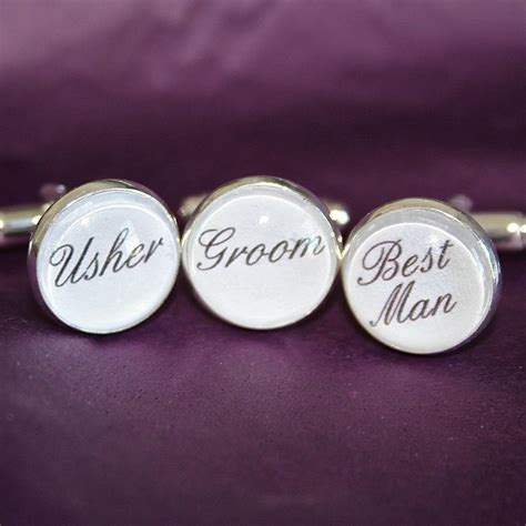 personalised silver plated wedding cufflinks by all things