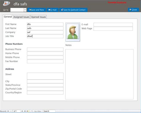 microsoft access electrician help desk ticket tracking