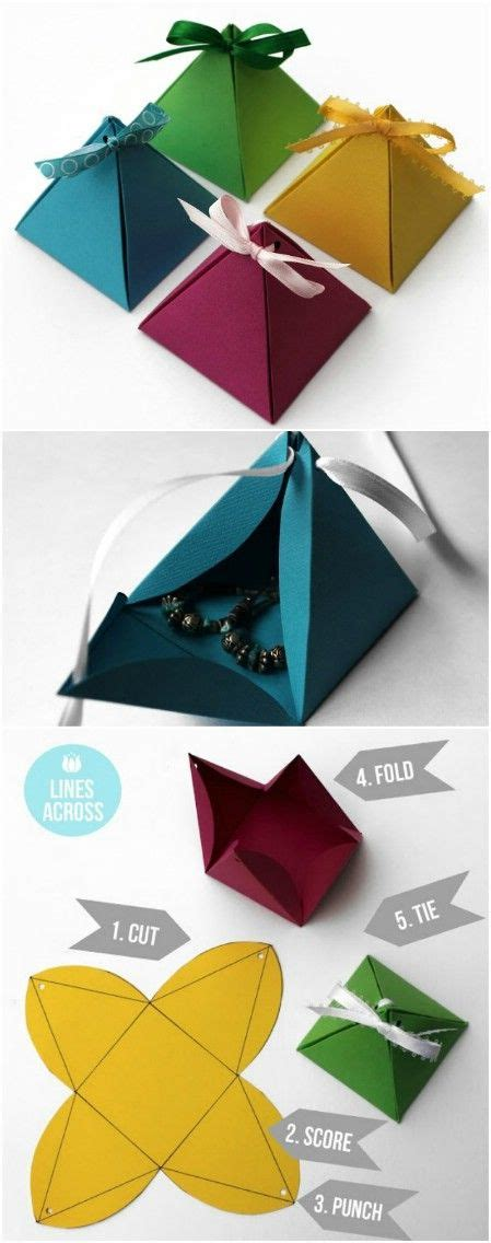 Origami Present Wrapping - diy origami pyramid gift boxes 25 adorable and
