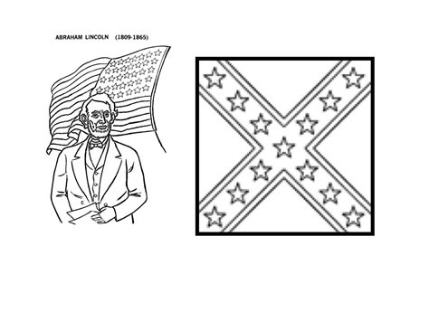 civil war union flag free coloring pages