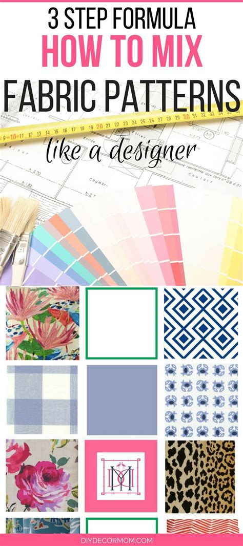 fabric pattern mixing mixing fabric patterns designer secrets diy decor mom