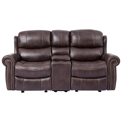 Cheers Sectional Sofa by Cheers Sofa 9768 Reclining Loveseat With Rolled Arms And