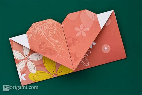 Folded Paper Envelope - valentine s origami a picture frame with a