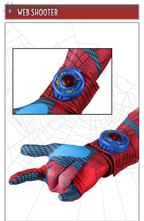 spiderman web shooters that you can swing on spider man costumes halloweencostumes com