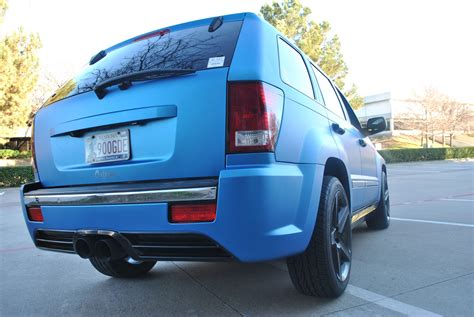 jeep matte blue matte blue metallic jeep grand color change wrap