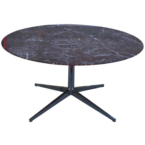 Dining Room Furniture Houston by Florence Knoll Marble Topped Round Dining Table At 1stdibs