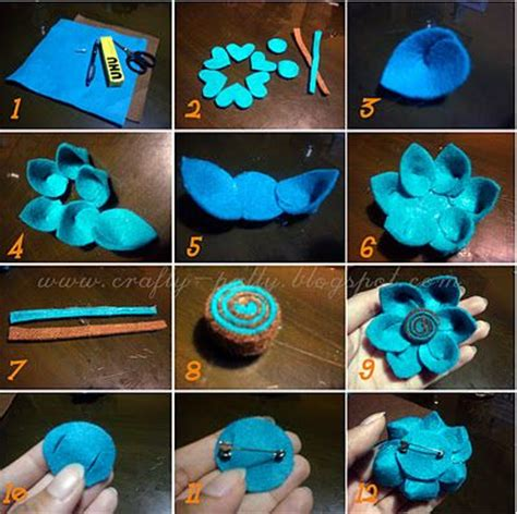 tutorial buket bunga handmade crafty patty tutorial bros bunga flanel felt felt