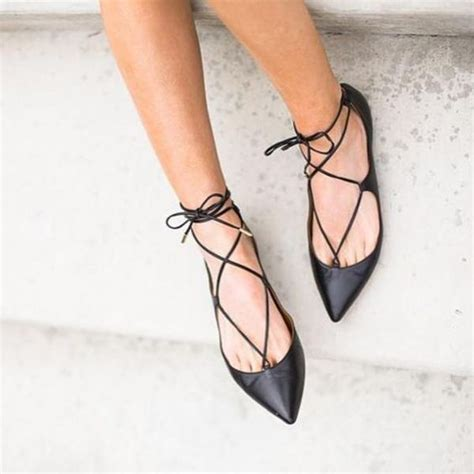 Pointed Strappy Flats best ideas about lace up pointed flats lace up black