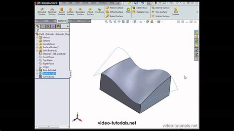 solidworks tutorial on youtube intro to surface design 2 solidworks tutorials surface