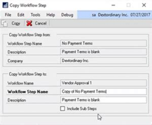 workflow functionality microsoft dynamics gp 2018 feature of the day new workflow