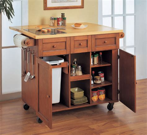 kitchen islands on wheels kitchen island on wheels with trash bin decoraci on interior