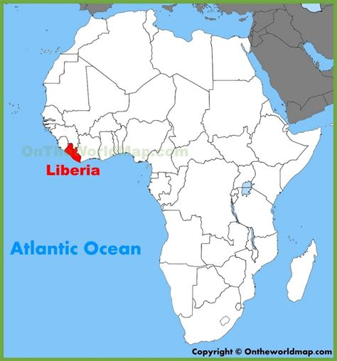 liberia on world map liberia location on the africa map