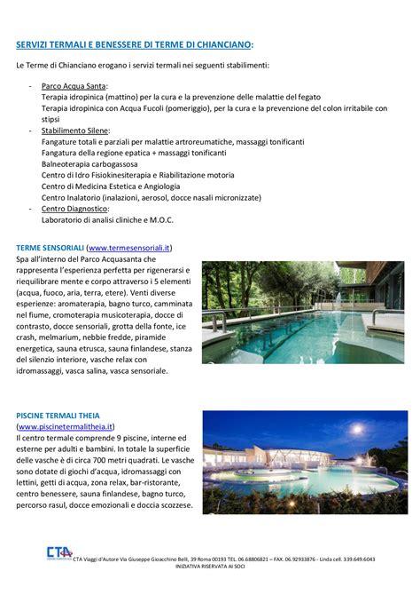 soggiorni termali offerte it481 soggiorni termali a chianciano terme turismo