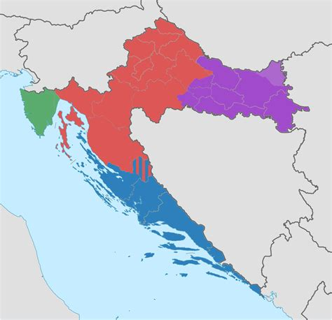 Croatia Search Regions Of Croatia