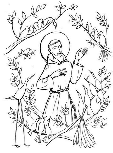 st francis of assisi coloring pages for catholic kids