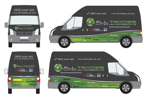 van graphics design vehicle graphics for all trades 110designs