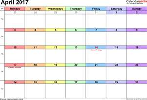 2018 Calendar Easter Dates April 2017 Calendar Easter Weekly Calendar Template