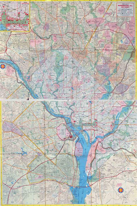 washington dc road map large road map of washington d c washington d c