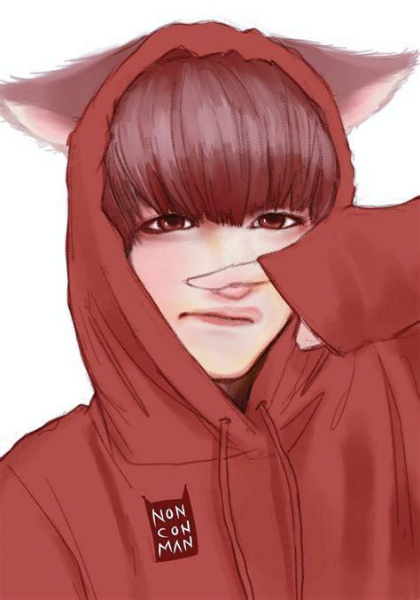 V Anime Fanart by Imagem Embutida Bts Fanarts Chibi Bts
