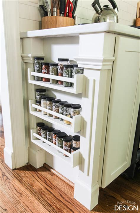 easy built in spice rack bekvam ikea hack spice