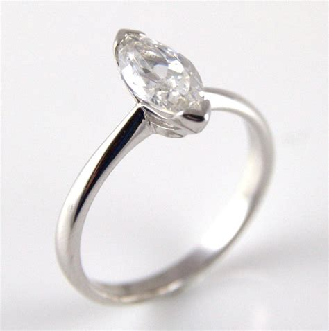 unique 1ct marquise cut engagement ring 9ct gold
