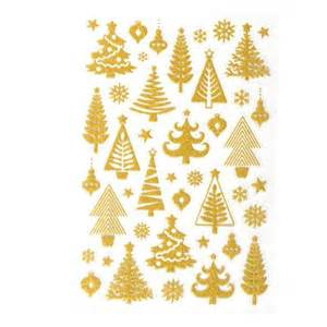 gold christmas tree glitter stickers hobbycraft