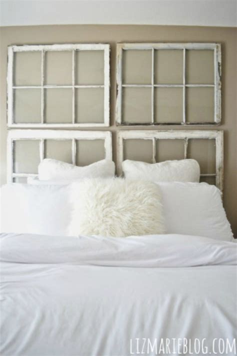 old window headboard 19 how to make a headboard that looks designer tip junkie