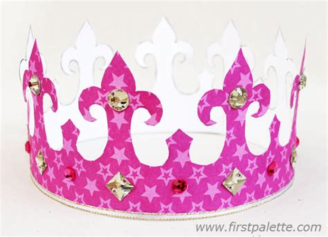 How To Make A Paper Princess Tiara - paper crown craft crafts firstpalette