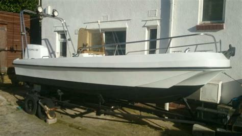 fishing boat for sale dorset dell dory 17 quot boat wilson flyer complete with trailer